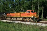 BNSF 4736 at US-59 Feeder Rd; Southbound in the hole